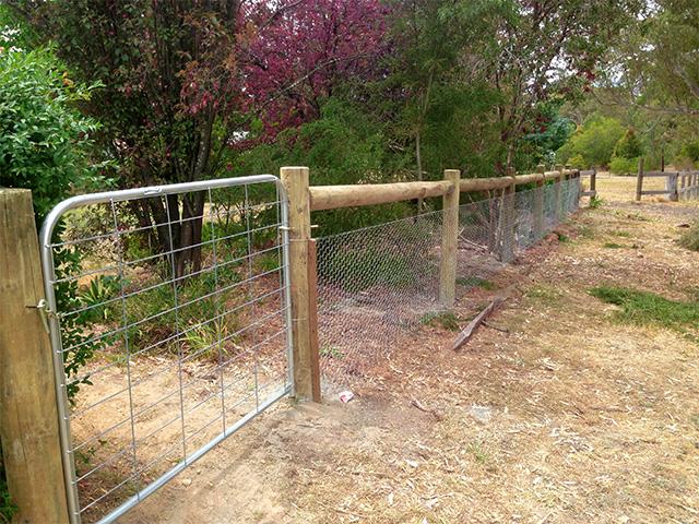 Post & Rail Fence - Kyneton-Malmsbury