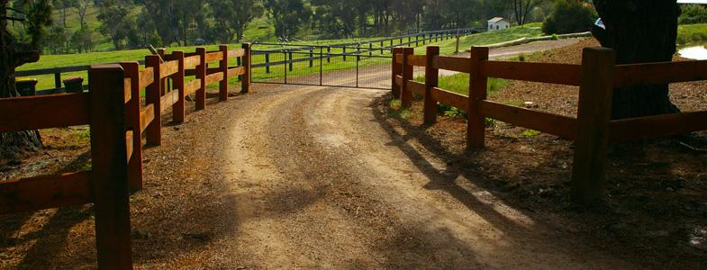 Traditional Post & Rail Farm Fence by Wright Contracting (Vic) Pty Ltd