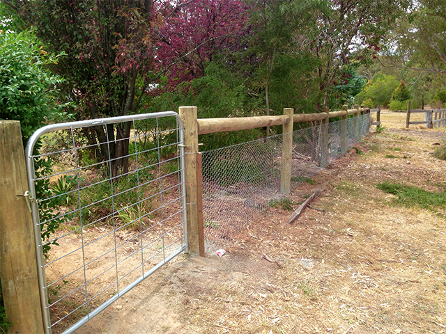 Post & Rail Fence - Kyneton-Malmsbury